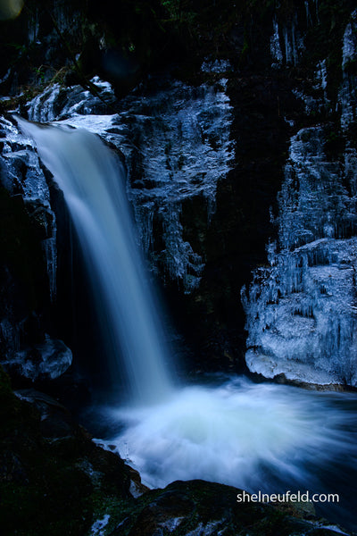 Mysterious Roberts Creek Waterfall, BC by Shel Neufeld Canadian Photographer