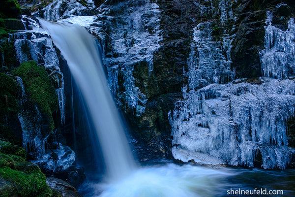 Roberts Creek Main Waterfall, BC by Shel Neufeld of WildArt Photography
