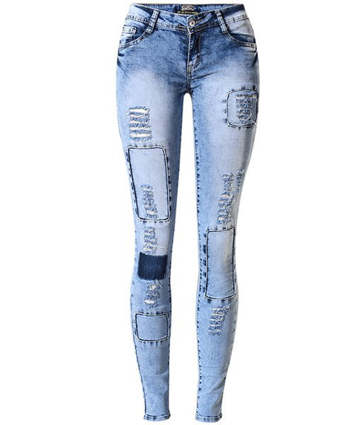 Stylish Low Waist Slimming Jeans