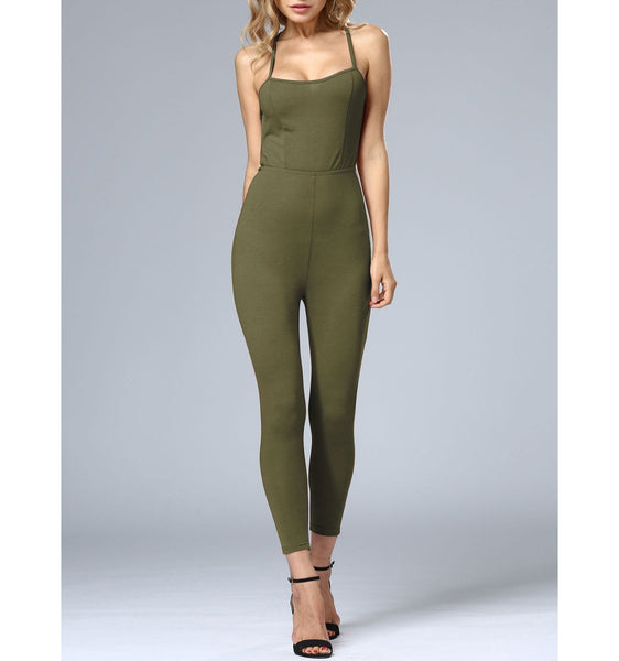 Criss Cross Backless Jumpsuit