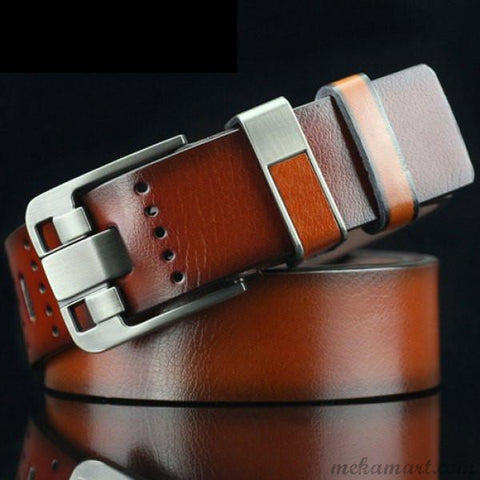 Men's Casual Pin Buckle PU Leather Belts