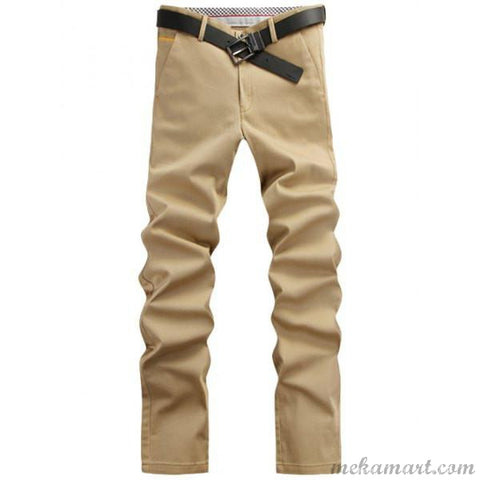 Men's Solid Color Pants For  Work or Casual Wear