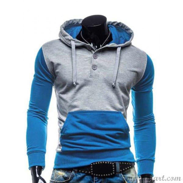 Men's Splicing  Hoodies