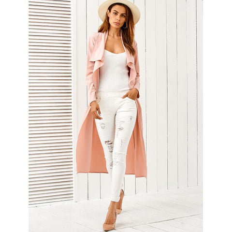 Ladies' Draped Belted Duster Coat