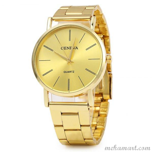 Geneva Quartz Watch Gold Watch