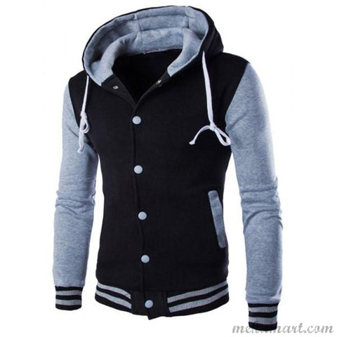 Men's Single-Breasted Poly Cotton Hoodies
