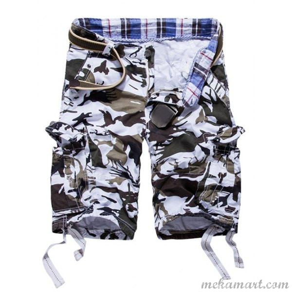 Men's Loose Fit Multi-pockets Cargo Shorts