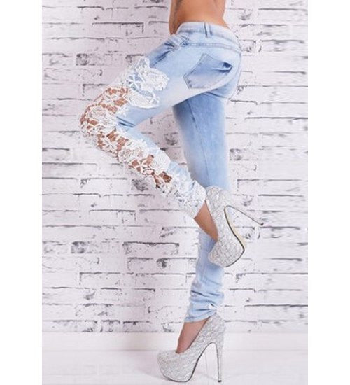 Sexy Hollow Out Bodycon Pencil Jeans