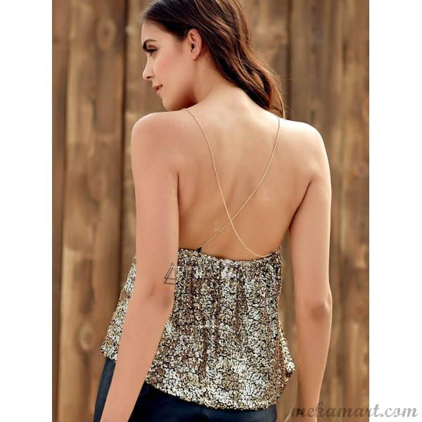 Sexy Sequins Tank Top for Women