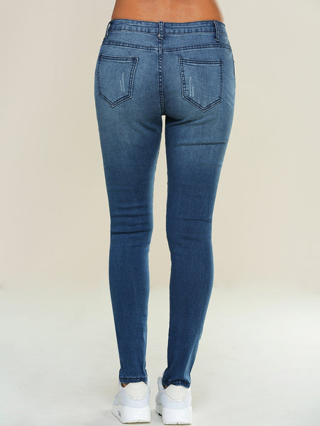 Women's Skinny Ripped Pencil Jeans