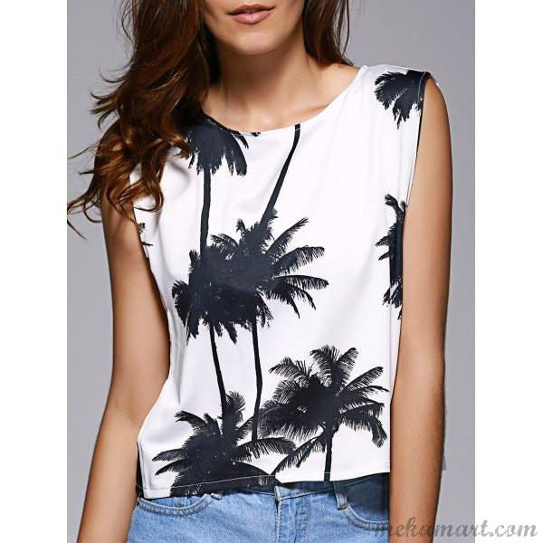 Loose Fitting Cut Out Tank Top for women