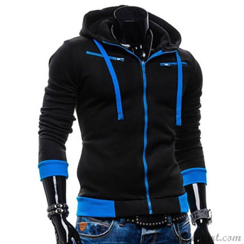 Men's Hooded Thicken Cotton Blend Sports Coats