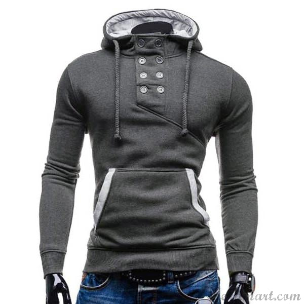 Men's Trendy Double Breasted Pocket Hoodies