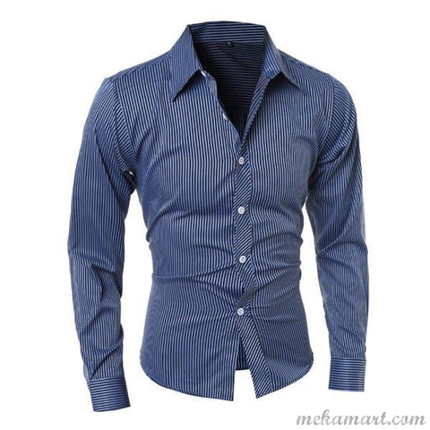Men's Long Sleeve Vogue Smart Casual and/or Semi Fomal Shirt