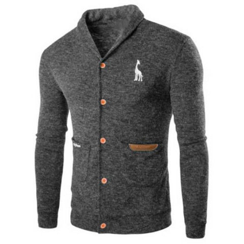 Men's Casual Solid Color Cardigans