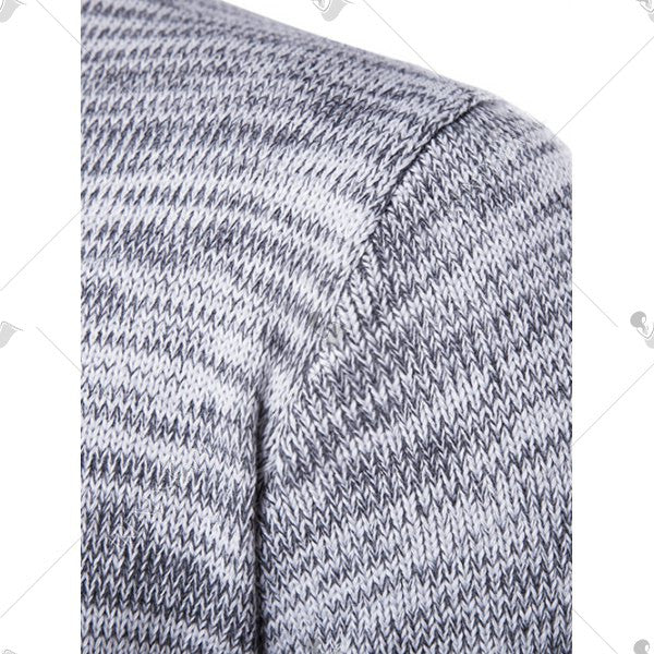 Men's Crew Neck Space Dyed Sweater