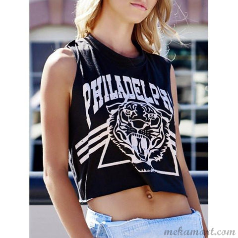 Scoop Neck Cotton Crop Top for Women