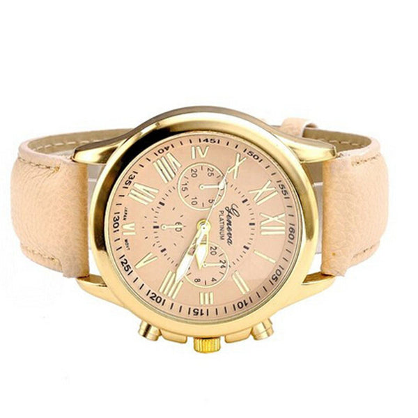 Women's Classic Roman Numerals Faux Leather Analog Quartz Watches