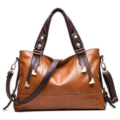 Women's New Genuine Leather Lichee Pattern Shoulder Bag