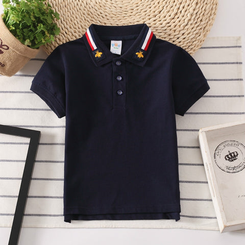 Boys Polo Shirts Colar T-shirts Short Sleeve Summer Fashion top for 2-16 Years