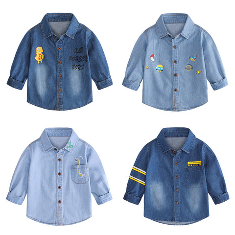 2020 Autumn New Children's Clothing Boys Long Sleeve Casual Button Shirts