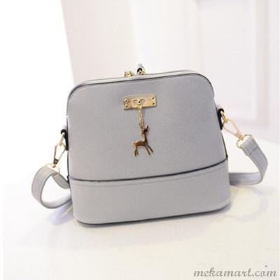 Women's PU Leather Deer Spliced Messenger Shoulder Bag