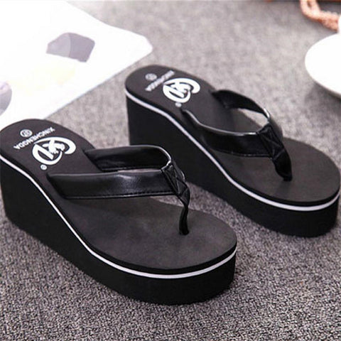 Women's Summer High Platform Flip Flop Thongs