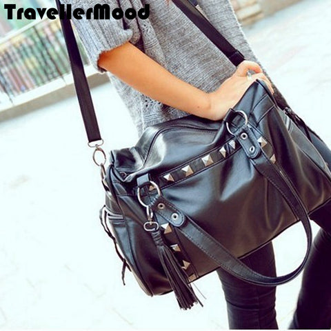 Women's New fashion Traveler  PU Leather Shoulder Bag