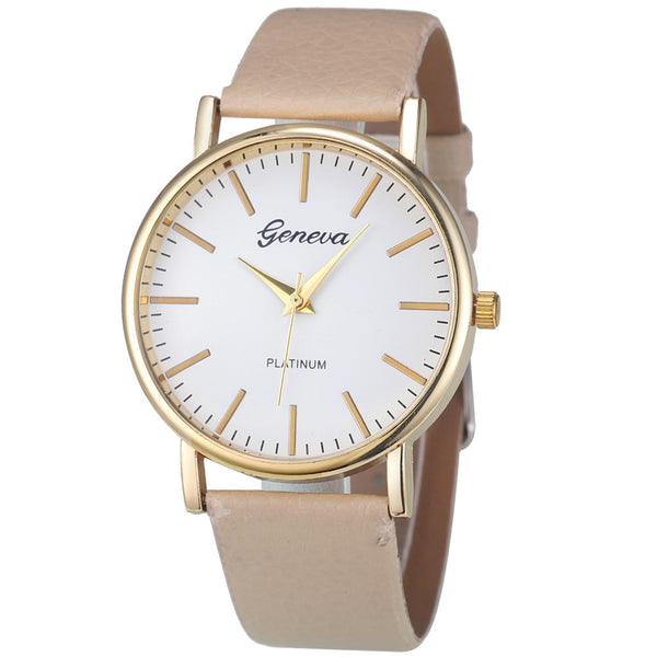 Women Simple Geneva Fashion Wrist Watches
