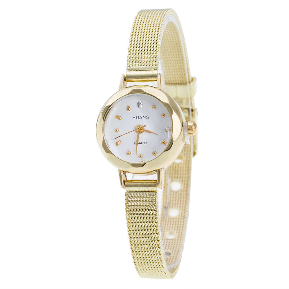 Jewelry Ladies Stainless Steel Mesh Band Luxury Quartz Watches