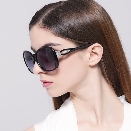 Sun-glass IVE Wholesale 2017 Luxury Women Sunglasses Fashion Round Ladies Vintage Brand Designer Oversized Female Sport Sun Glasses KD9556