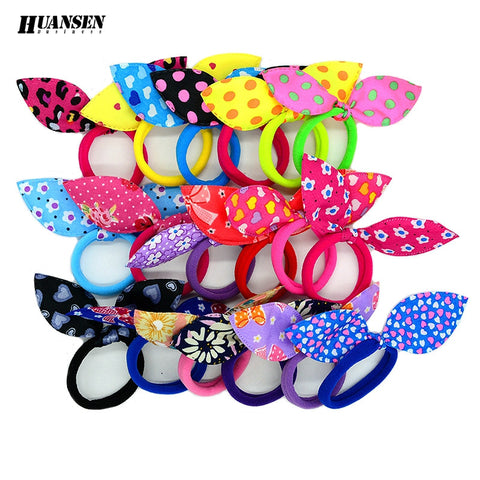 Hair Dressing Multi-color Elastic Hair Bands 20pcs/lot