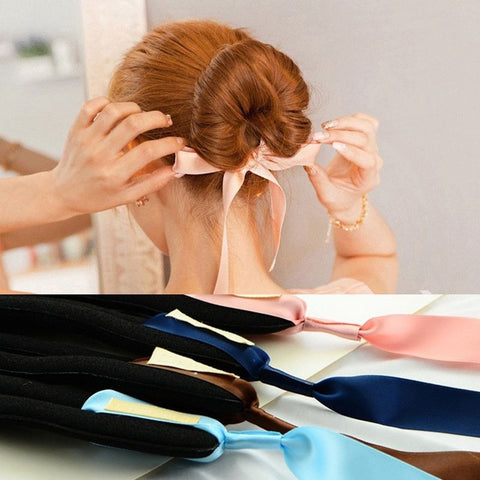 Hair Care Donut Bun Hairstyle Silk Headbands