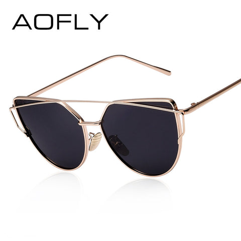 Sunnies AOFLY Polarized Sunglasses Women Fashion Summer Style Sun glasses for Women Vintage Classic Brand Designer Twin-Beams Shades