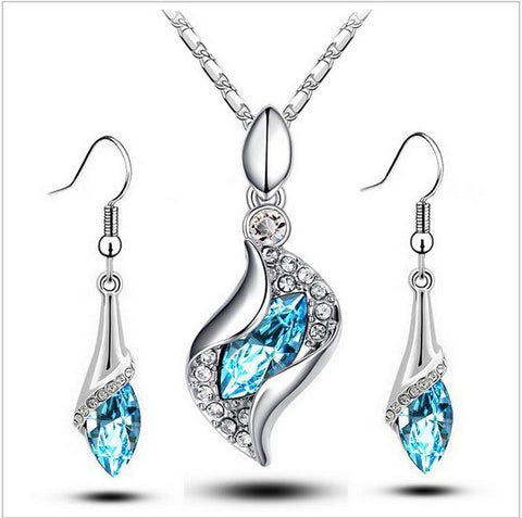 Ladies New Limited Water drop Penants Jewelry Set