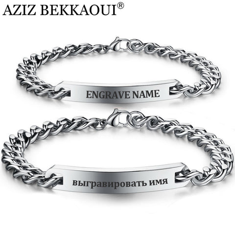 Jewellery 316 Stainless Steel Personalized Custom Logo & ID Bracelet For Women