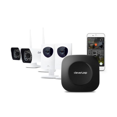 Kit Video vigilancia CleverLoop con 4 Cámaras de seguridad WIFI 1MP HD