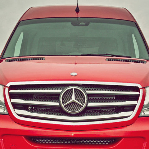 FIT FOR MERCEDES SPRINTER CHROME FRONT GRILLE SURROUND S.STEEL TRIM 2014-2018