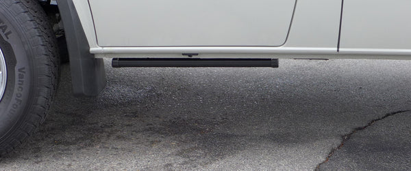 Automatic retractable running board on drivers side