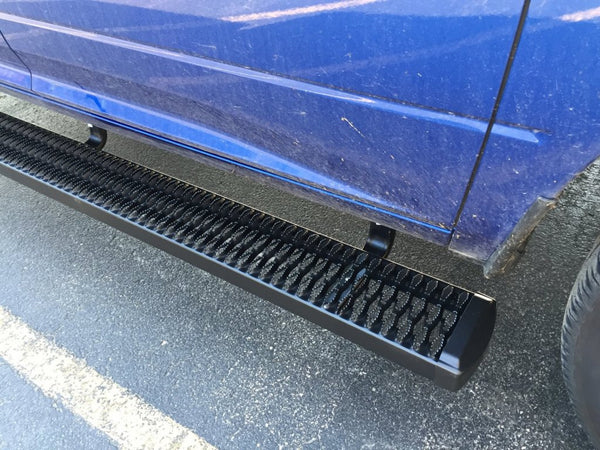 Expanded metal running board steps for Sprinter
