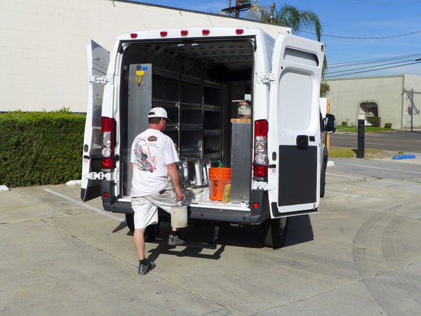 Rear step for Sprinter Worker van