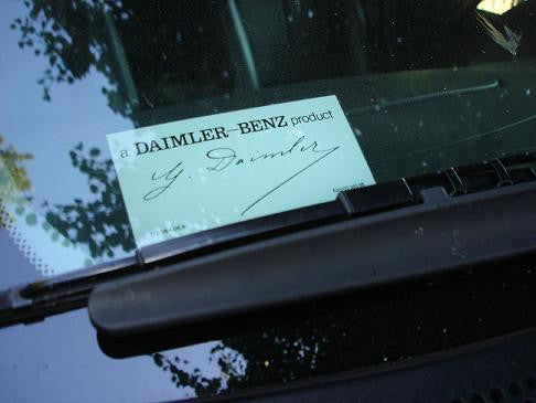 Mercedes Sprinter windshield decal