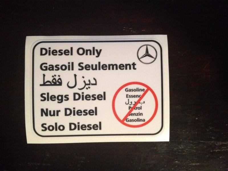 Diesel Only Sticker / Mercedes-Benz