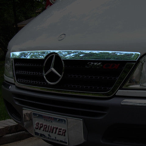 Hood trim for Mercedes Sprinter grille