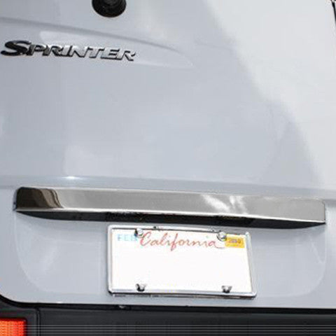 Sprinter chrome license plate accent