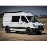 Sprinter van with black Fiamma awning