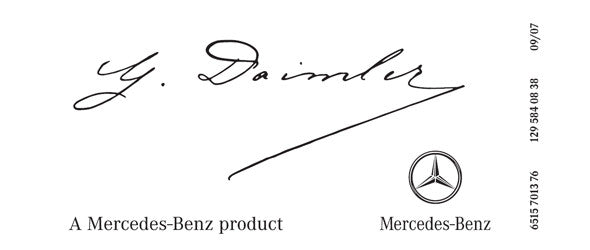 Sprinter Daimler Signature decal