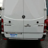 Mercedes Sprinter chrome bumper step protector