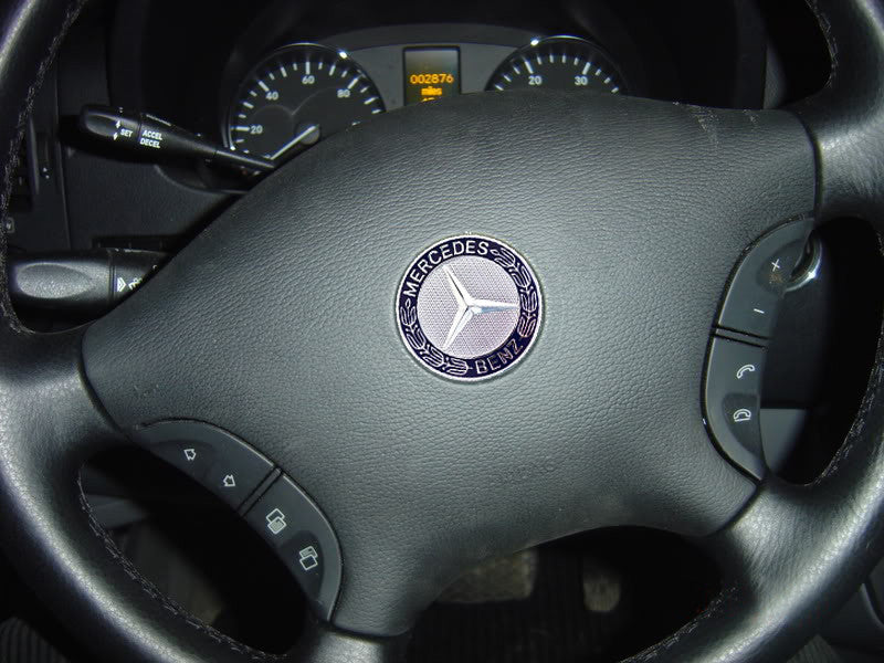 Mercedes Sprinter steering wheel emblem