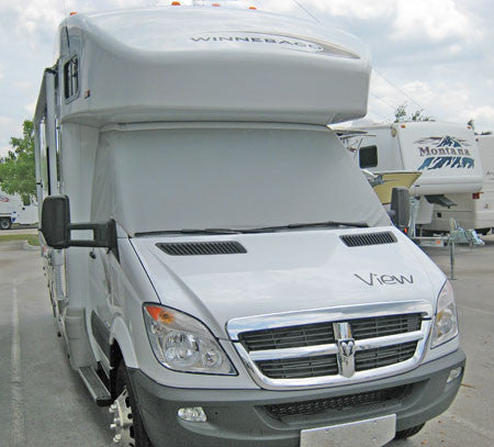 Sprinter windshield cover on Winnebago View RV